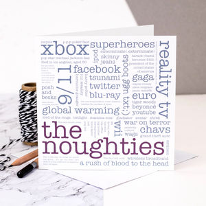 16th Birthday Card 'The Noughties' - birthday cards