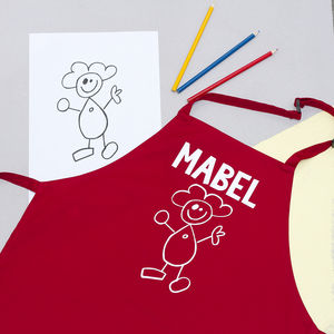 Children's Personalised Doodle Apron - aprons