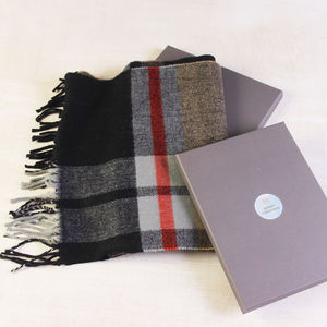 Mens Checked Winter Scarf - view all new