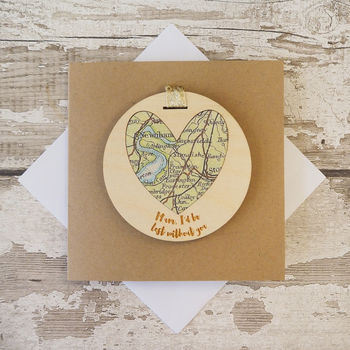 Personalised 'Mum, I'd Be Lost Without You' Card