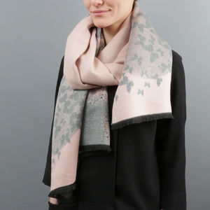 Personalised Cashmere Modal Butterfly Scarf - gifts for her