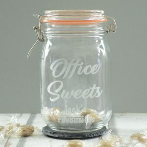 Office Sweets Personalised Jar - kitchen