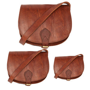 Sam Leather Saddle Bag - bags & purses