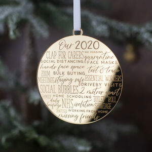 Christmas 2020 Commemorative Decoration