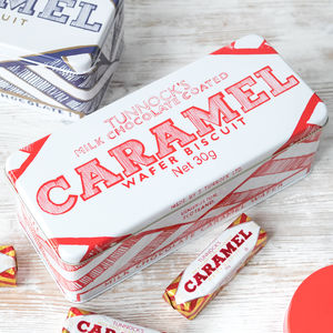 'Caramel Wafer' Rectangular Biscuit Tin