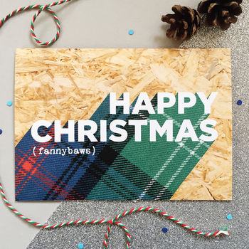 Happy Christmas Naughty Scottish Christmas Card by Hiya Pal