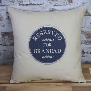 Reserved For Grandad Circle Cushion - new in home