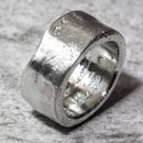 Sterling Silver Personalised 12mm Sand Cast Ring