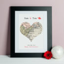 Special Place Map Wedding Or Anniversary Print