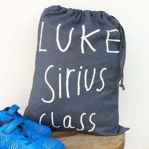 Personalised Child's Pe / Gym Bag - storage
