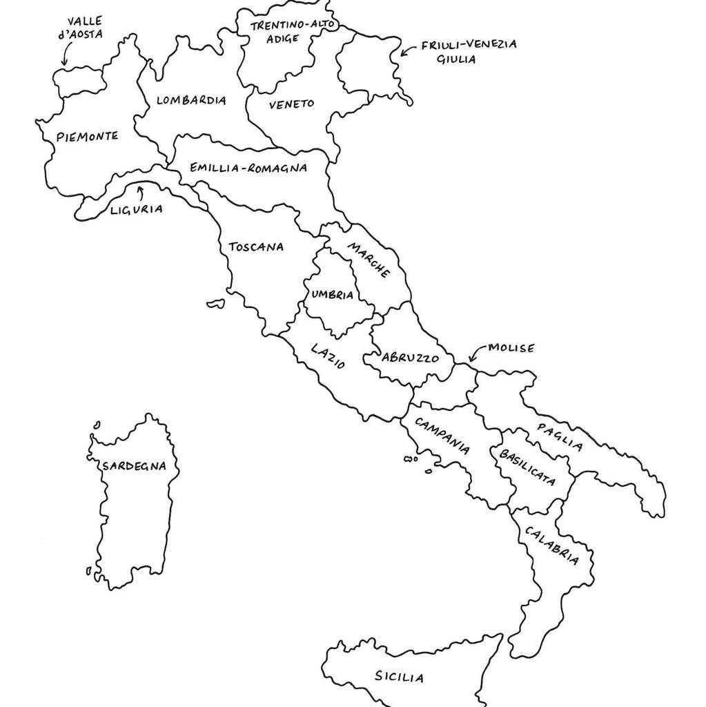 Italy Map Black And White.Personalised Map Of Italy Print By Drawink Designs