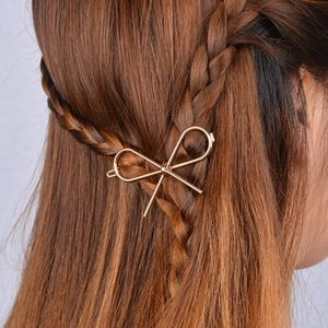 Gold Or Silver Bow Hair Clip - womens
