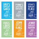 Personalised Burger Tea Towel