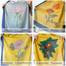 Personalised Eco Birth Flower Scarf
