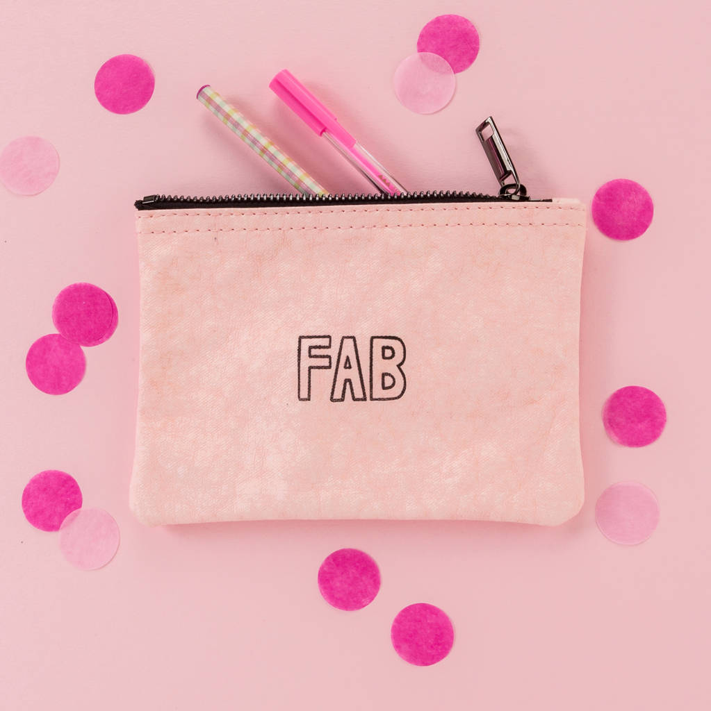 Fab Zipper Pouch Bag 40th Birthday Gift