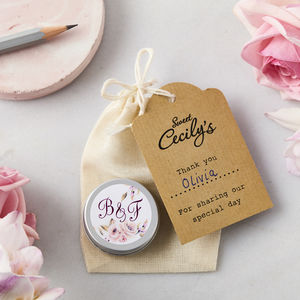 Monogram Lip Balm Wedding Favours