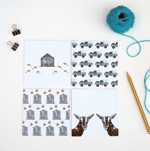 Pack Of Grey Farm Greetings Cards - shop by category