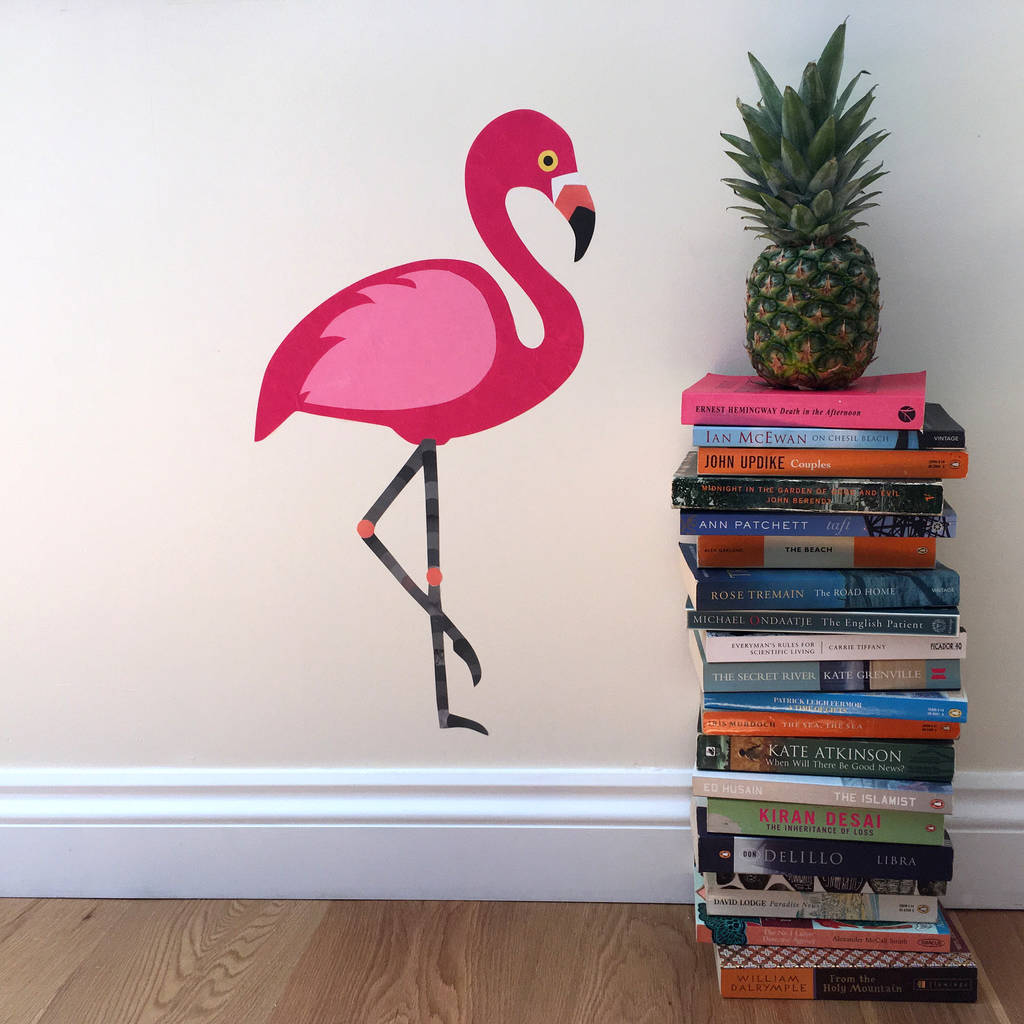 Wall Sticker Pictures Flamingo Wall Sticker By Chameleon Wall Art