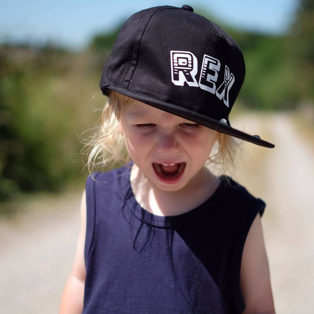 personalised name kids snapback  hat by marloweville ... 12c89de18f79