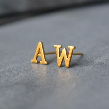 Big Letter Alphabet Earrings 18ct Gold
