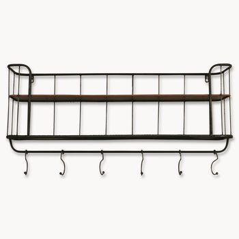 Granville Long Metal Shelf Unit