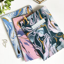 Hand Marbled Gold Foil Notebook Pack
