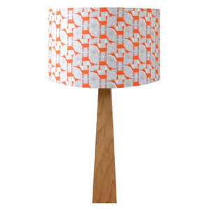 Woodland Fox Oak Table Lamp - dining room