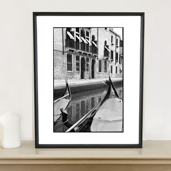 Gondolas, Italy Photographic Art Print