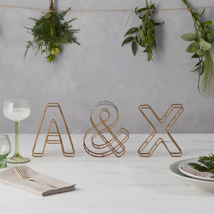 Wire Initials And Ampersand - valentine's day decorations