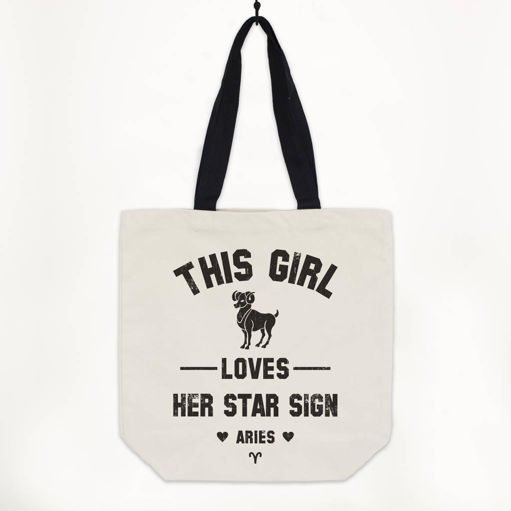Aries Women's Zodiac Star Sign Tote Bag