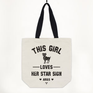 Aries Women's Zodiac Star Sign Tote Bag