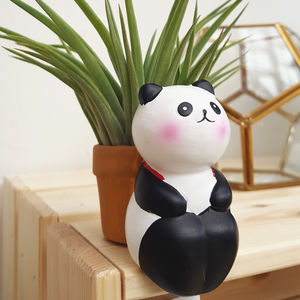Mini Panda Plant Holder With An Air Plant - flowers & plants
