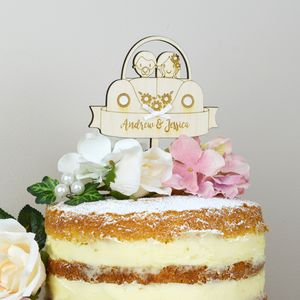 Personalised Car Wedding Cake Topper - table decorations
