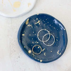 Handmade Clay Ring Dish - jewellery storage & trinket boxes