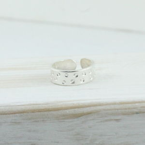 Sterling Silver Circles Toe Ring - rings