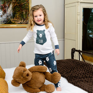 Bear Hugs Children's Pyjamas With Long Sleeved Top - clothing