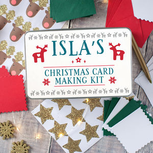 Personalised Christmas Card Making Kit For Children