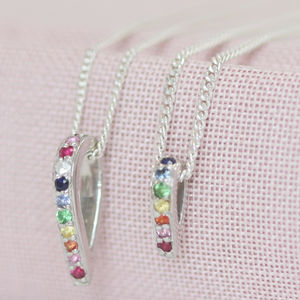 Silver And Rainbow En Pointe Pendants - gifts for her