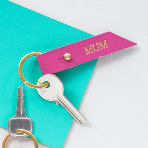 Personalised Handmade Leather Keyring - accessories sale