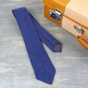 Linen Textured Slim Tie - ties & tie clips