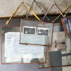 Copper Hanging Photo Frame - shoreline wedding trend