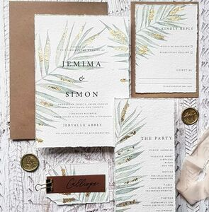 Philippa Handmade Paper Wedding Invitation
