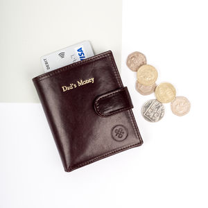 Personalised Luxury Small Leather Wallet. 'The Pietre' - wallets