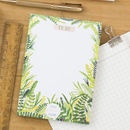 To Do List Foliage Patterned Notepad