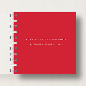 Personalised Lover's Small Red Notebook - notebooks & journals