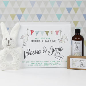 Personalised Mummy And Bump Baby Shower Gift Set - toys & games