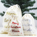 Merry Christmas Personalised Gift Bags
