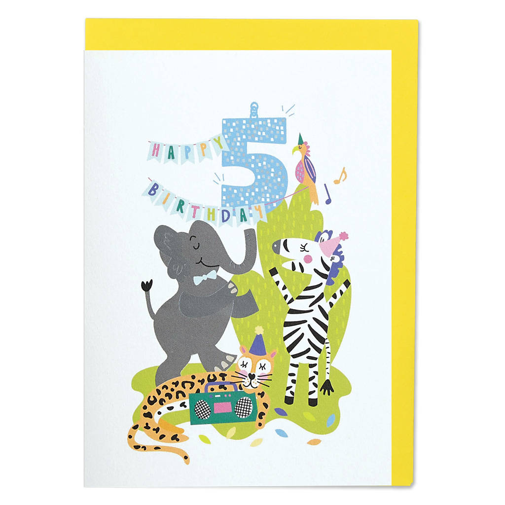 Age Five Happy Birthday Card