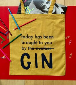 Personalised 'Today Has Been Brought To You By…' Tote