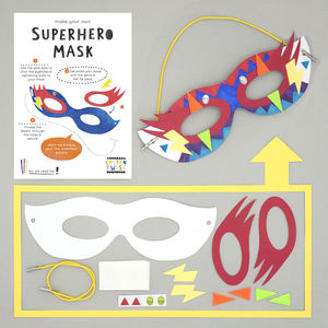 Make Your Own Superhero Mask Kit - pretend play & dressing up
